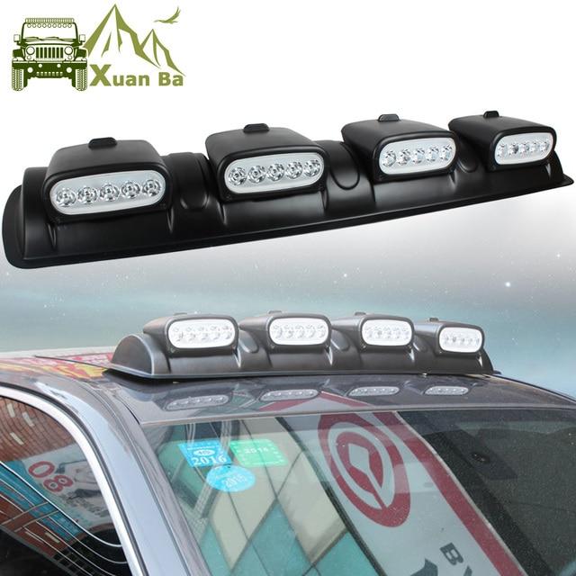 XuanBa 100W LED Light Bar DRL 12V Car Discovery Roof Lights SUV Dome ...