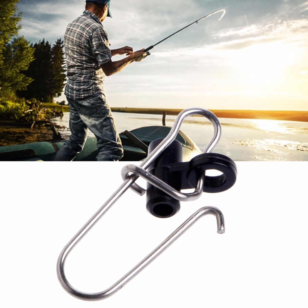 10Pcs Fishing Sinker Slide Snap Clip Connector Swivels For Finder Braided Line