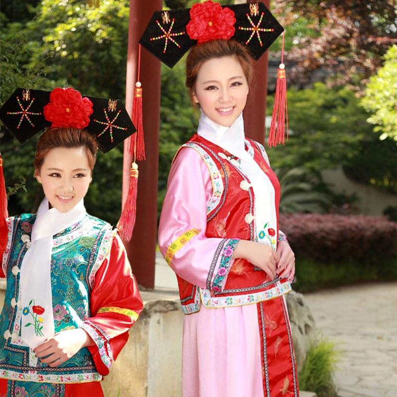 Costume de princesse de la dynastie Qing Hanfu vêtements anciens femmes Cosplay gege costumes traditionnels chinois