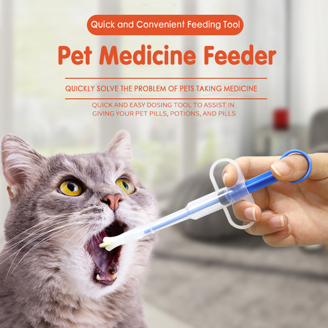 Pet Puppy Dog Feeder Leak-proof Dog Cat Medicine Dispenser  2