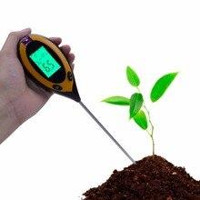 5 шт. 4 в 1 цифровой почвенный Влагомер PH тестер Температура солнечного света для использования в фермерских хозяйствах, газон завод с ЖК-дисплей дисплею