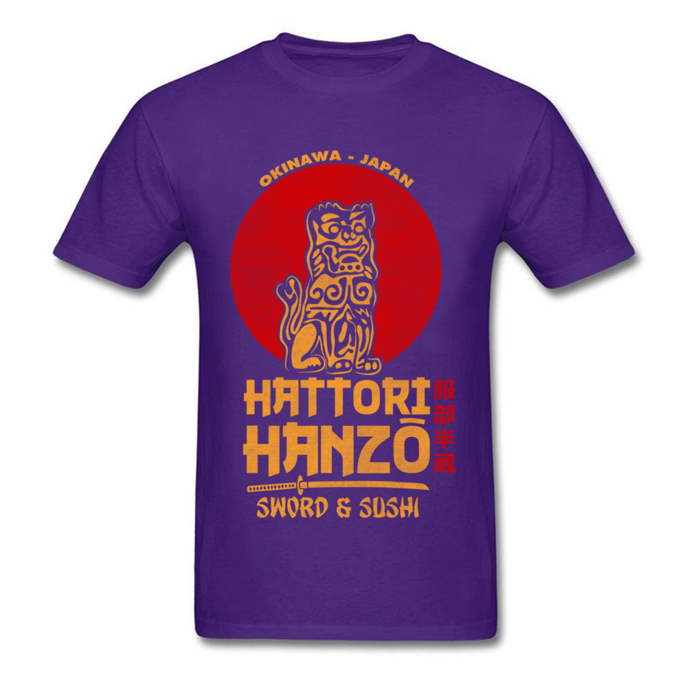 100% Cotton Fabric Men Short Sleeve Hattori Hanzo Top T-shirts Casual Tees Latest Design O Neck Sweatshirts Drop Shipping Hattori Hanzo purple