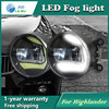 Super White LED Daytime Running Lights Case For Toyota Highlander 2009 13 Drl Light Bar Parking