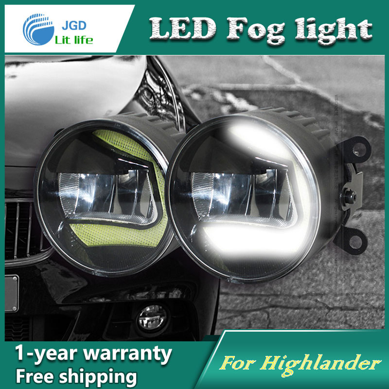 Super White LED Daytime Running Lights Case For Toyota Highlander 2009 13 Drl Light Bar Parking