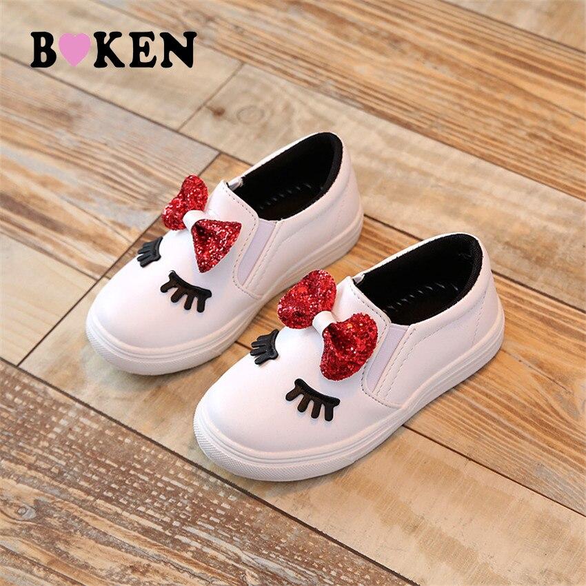 BOKEN Meisjes Koreaanse Princess Bow Casual enkele schoenen Big / - Kinderschoenen - Foto 1