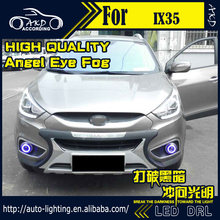 Car Styling Angel Eye Fog Lamp for Hyundai IX35 LED DRL 2011-2015 Tuscon LED Fog Light CCFL Xenon Option Automotive Accessories
