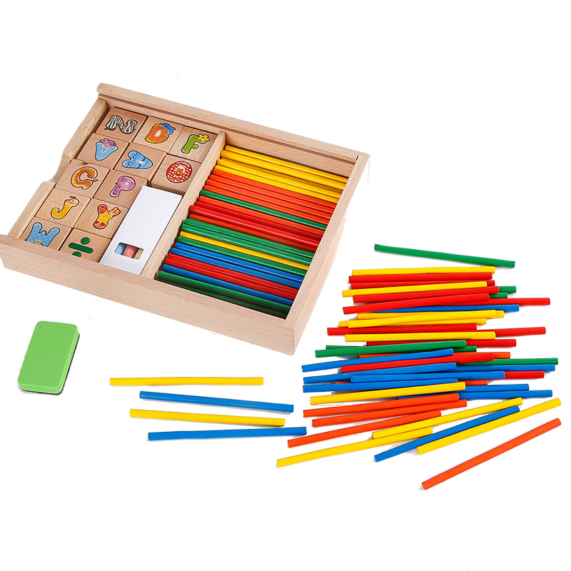 Childrens mathematics learning box digital stick kindergarten mathematics early childhood educational computing teaching aids