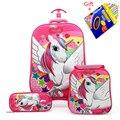 2018 новый детский рюкзак детский школьный рюкзак с чемодан-тележка на колесах мальчики девочки школьный рюкзак Детская подарочная сумка