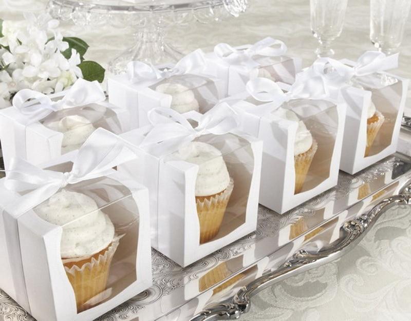 UUSI DESIGN Yksi 9x9x9cm Cupcake-laatikot Häät-lahjapakkaus Favor - Tavarat lomien ja puolueiden - Valokuva 4