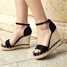 Womens Summer Comfort Wedge Mary Janes Sandals Shoes Everyday Street Comfortable Lady Single Strap