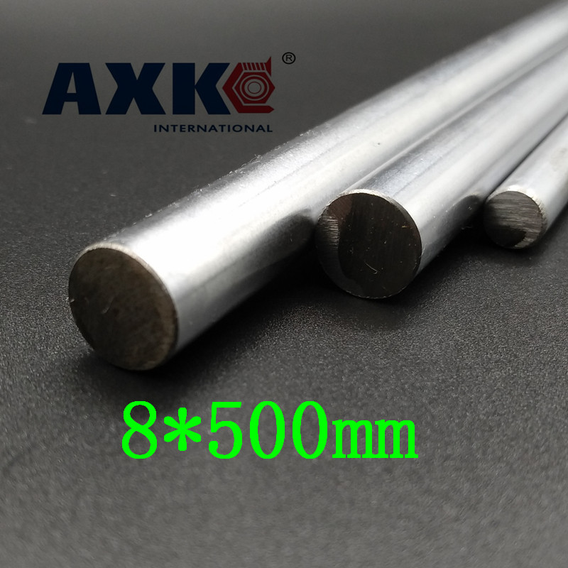 AXK OD 8mm x 500mm Cylinder Liner Rail Linear Shaft Optical Axis chrome For 3D Printer Accessory 4pcs od 16mm x 800mm cylinder liner rail linear shaft optical axis