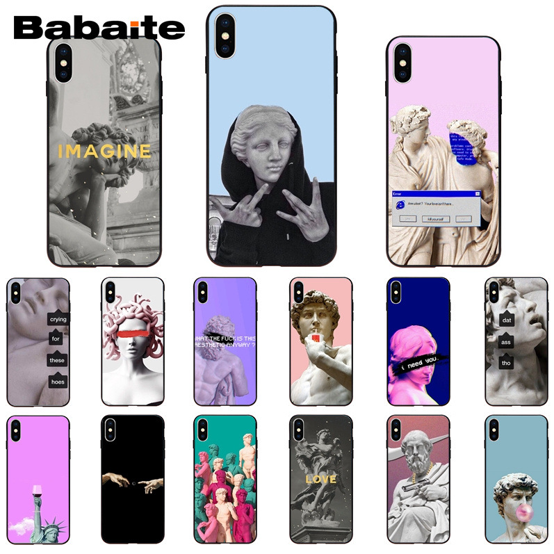 Babaite Alternative statue kunst DIY Druck Telefon Fall für <font><b>iPhone</b></font> 8 7 6 6S Plus 5 5S SE XR <font><b>X</b></font> <font><b>XS</b></font> <font><b>MAX</b></font> Coque 11 11pro 11promax image