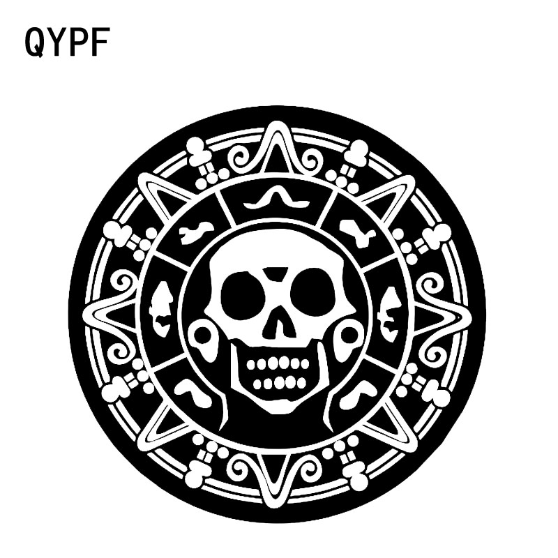 QYPF 15.3*15.3CM Beauty Of The Mysterious Flowers Skull Decorating Graphic Car Sticker Vinyl C16-0086
