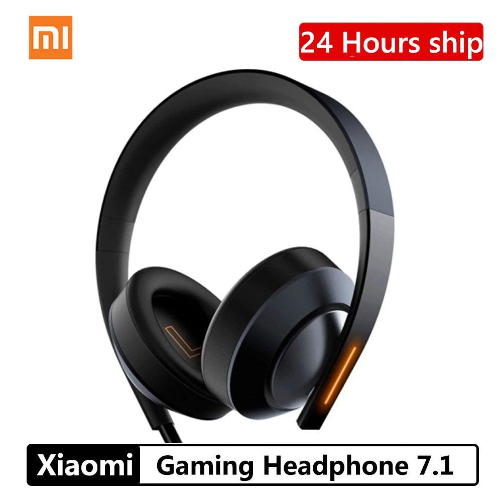 Xiao mi mi Jogo Headphone 7.1 Surround Virtual de Som Anti-ruído Ga ng mi fone de Ouvido Estéreo Baixo Pesado Para PC Laptop Telefone