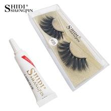 SHIDISHANGPIN 3d mink false lashes hand made natural long eyelashes eyelash faux cils with glue