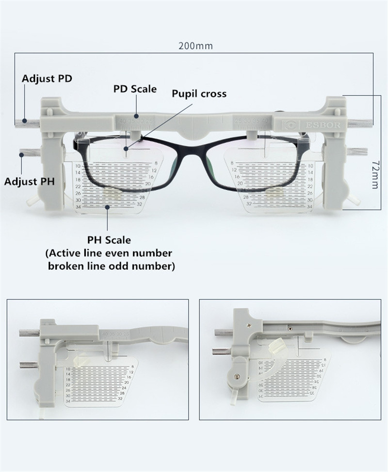 Image 4 - Adjustable Pupilometer PD & PH Pupil height distance Meter Glasses Ruler Optical Tool Ophthalmic Eyesight Test instrument-in Instrument Parts & Accessories from Tools