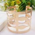 AFJ 2017 Female Personality Wavy Gold-Plated Bracelet Female Hand Ring Hollow Silver-Plated Armbands Bangles Bracelets For Women