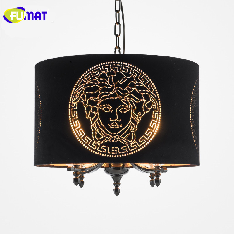 FUMAT Nordic Simple Bedroom Lamp Dinning Room Hanging Lamp Villa Pendant Light E14 LED Avize Goddess Fabric Pendant Lamps Black cartoon kids light led beside toys kids pendant light lamp kids room night light for children bedroom hanging head lamp