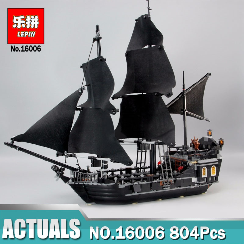 Lepin 16006 Pirates of the Caribbean The Black Pearl Building Blocks Toys compatible Legoinglys 4184 Pirates Ship For Children 1 6 pirates of the caribbean angelica headsculpt for diy 12inch doll parts