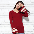 Winter Sweater Women Cashmere Knitted Pullovers 2016 New Fashion V neck Skirts Female Long Sleeve Knitwear Tops Standard Clothes