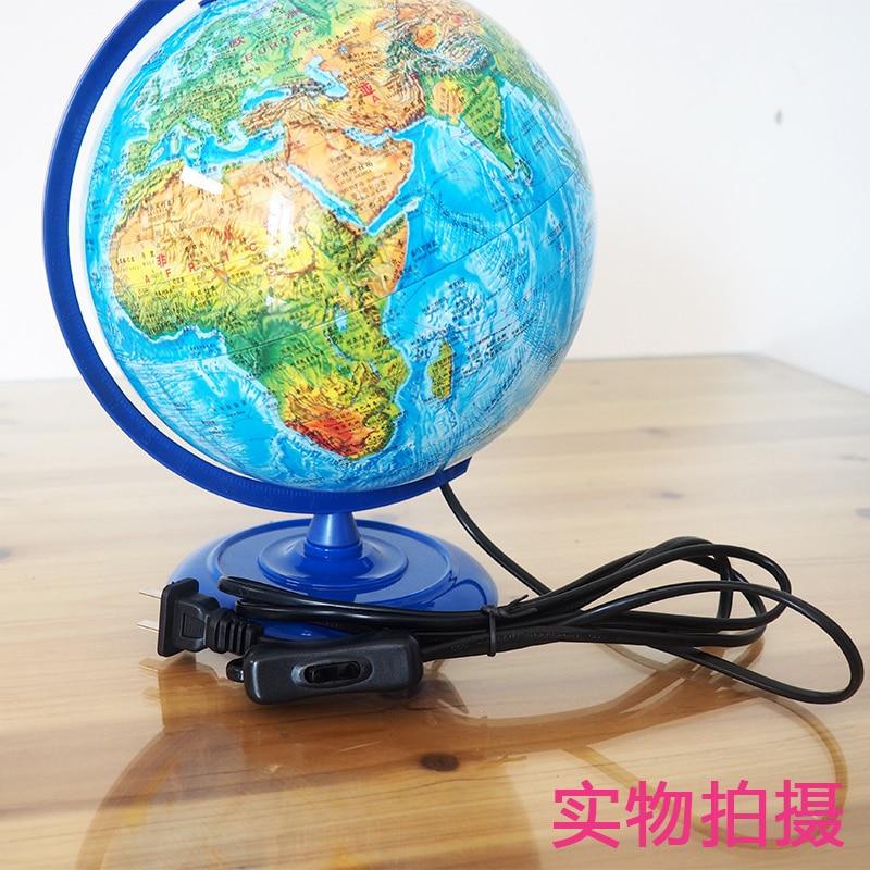 En plastique Globe Terrestre Led Lampe Dia 20 Terrain Politique Articles D'ameublement Standard Haute-définition Couleur Impression