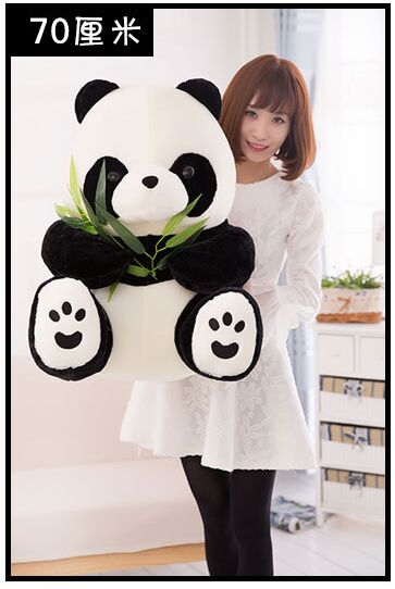 big lovely stuffed panda toy plush sitting panda doll birthday gift about 70cm cartoon panda i love you dress style glasses panda large 70cm plush toy panda doll throw pillow proposal christmas gift x025