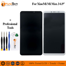 Original 6.9For Xiaomi Max 3 MI Max 3 LCD Screen Display Touch Panel Digitizer Frame For Xiaomi Mi Max 3 Lcd Display with frame ^ a 30pin 163x97mm lcd display matrix for 7 oysters t72hm 3g tablet inner lcd display 1024x600 screen panel frame
