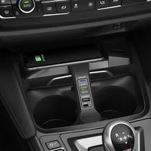 10W Auto Qi Draadloze Opladen Telefoon Oplader Opladen Plaat Telefoon Houder Voor Bmw F30 F31 F32 F33 F34 F35 f36 F82 M4 Accessoires