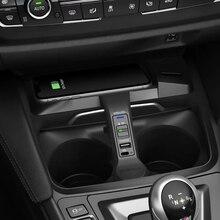 10W samochód QI bezprzewodowa ładowarka do telefonu BMW 3 4 serii F30 F31 F32 F33 F34 F35 F36 2014 2018 ładowanie palte akcesoria