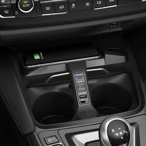 Image 1 - 10w 자동차 qi 무선 충전 전화 충전기 충전 플레이트 전화 홀더 BMW F30 F31 F32 F33 F34 F35 F36 F82 M4 액세서리