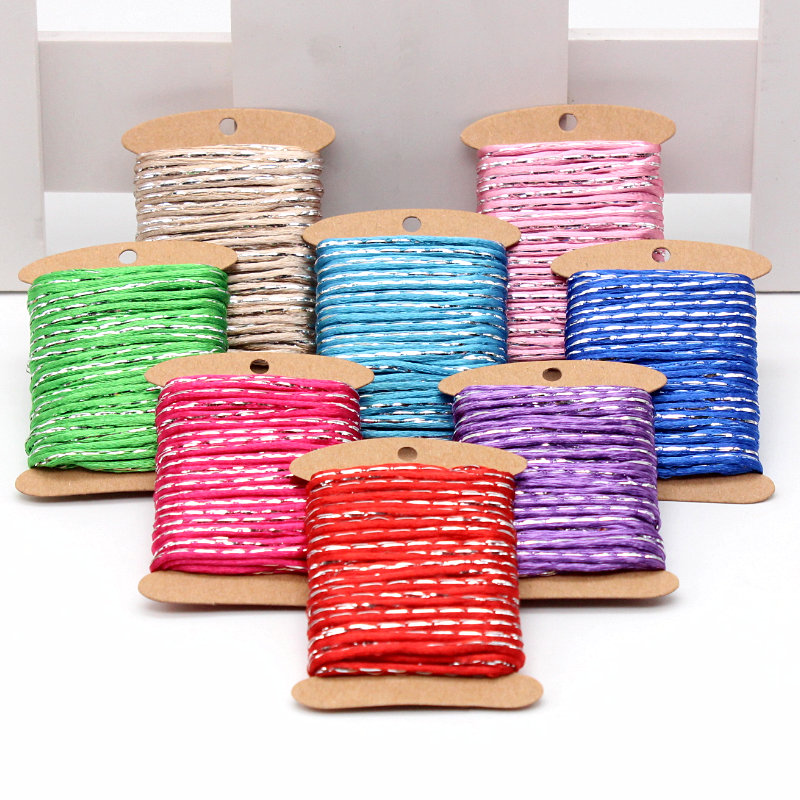 5 meter 2mm Silver side Braiding Nylon Macrame String Knitting Rope Arts Crafts and Sewing supplies Decoration party line