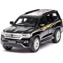 1:32 игрушечный автомобиль TOYOTA LAND CRUISER Prado Металлический Игрушечный Автомобиль литые игрушки модель автомобиля 6 дверей могут открываться игрушки для детей