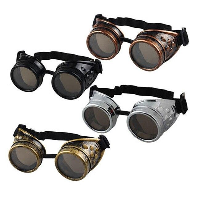 2f43dd5a69dea Vintage Estilo Vitoriano Steampunk Óculos Óculos de Sol Óculos de Solda  Óculos De Cyber Goth Do