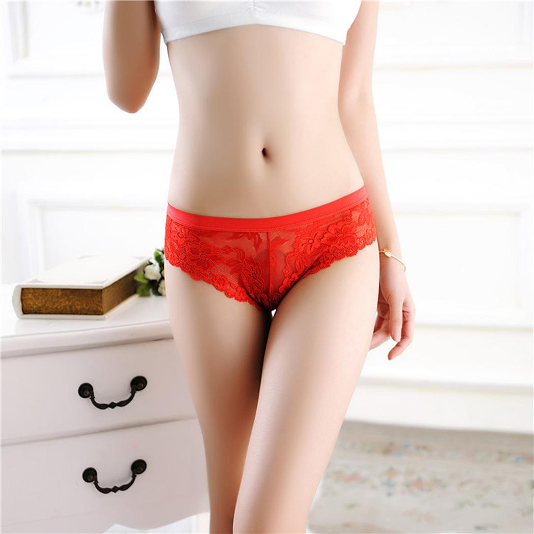 Buy Sexy Panties Women Underwear Lace Patchwork Lingerie Briefs G-strings Thongs Knickers Lingerie Briefs Underwear Panties Hot Sexy