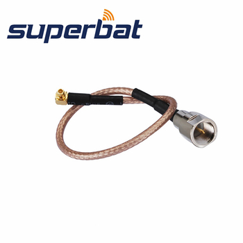 free ship 10m 20m teflon rf coaxial cable rg142 od 5mm cable connector 50ohm m17 60 shield cable Superbat FME Male Plug to MMCX Male Right Angle Pigtail Cable RG316 15cm RF Coaxial Jumper Cable Connector