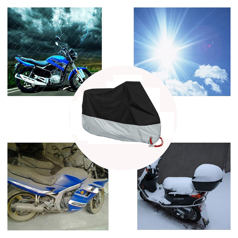 1X Motorcycle Cover XXXXL 295x110x140cm Anti UV Fit For Most Motorbike