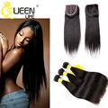 Peerless Peruvian Virgin Hair Straight with Closure 3pcs Peruvian Virgin Hair with Closure Rosa Hair Products with Lace Closure