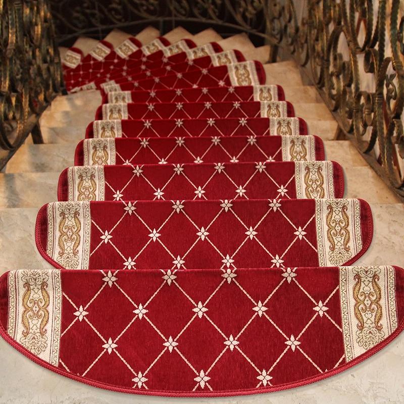 13 Pieces/Lot Europe Home Stair Carpet Office/Hotel Self-Adhesive Rug Anti-Slip Bathroom Carpet Home Entrance/Hallway Doormat