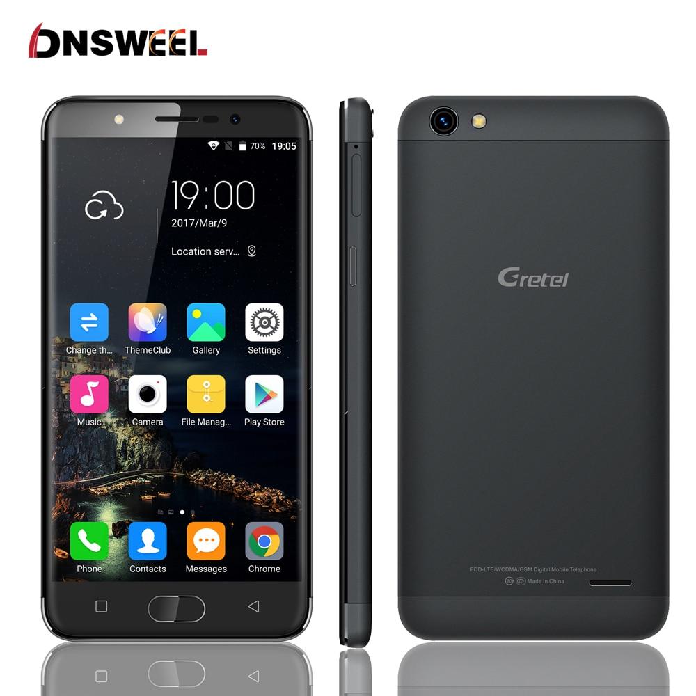 Original GRETEL A9 2GB RAM 16GB ROM 8MP 2300mAh MTK6737 1.25GHz Quad Core 5.0 Inch 2.5D HD Screen Android 6.0 4G LTE Smartphone