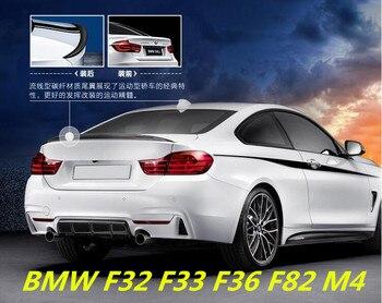 CARRO de Fibra De carbono ASA TRASEIRA TRONCO SPOILER PARA BMW F32 F33 F36 F82 M4 4 Cupê Série 2014 2015 2016 2017 2018 POR EMS