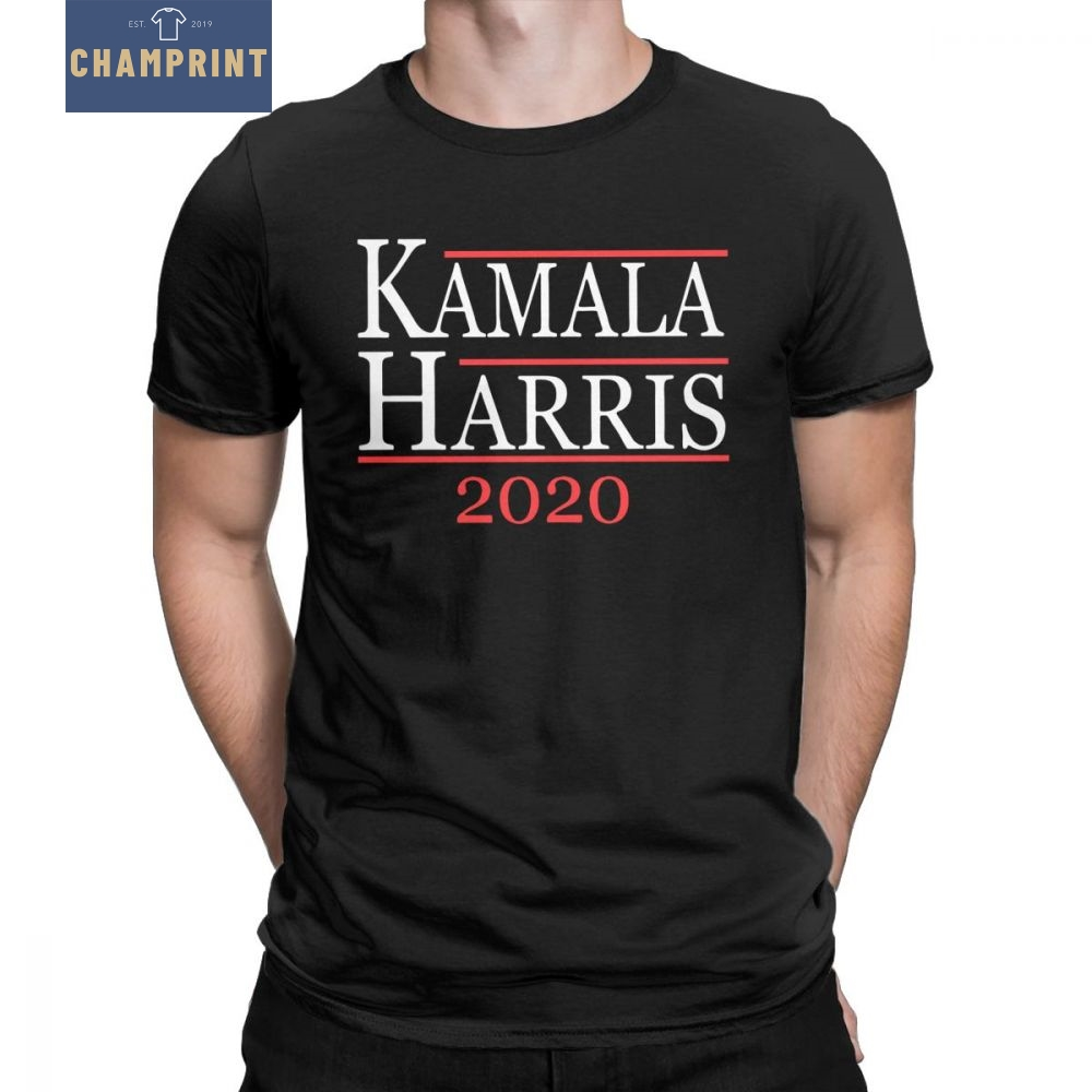 a0f8ff90338 Kamala Harris For President 2020 T Shirt Men s Election Democrat Graphic  Tee Shirt O Neck Cotton Clothes New Arrival T Shirt-in T-Shirts from Men s  Clothing ...