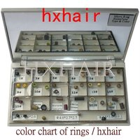 Freeshipping 10pcs Color Chart Of Rings Micro Ring Links Pre Bonded I Tip Hair Extension Tools