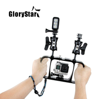 Aluminum Diving Photography Bracket for GoPro Hero 4/3+/3/2/SJ4000/ SJ5000/4 session Xiaomi yi Action Camera Diving Accessories