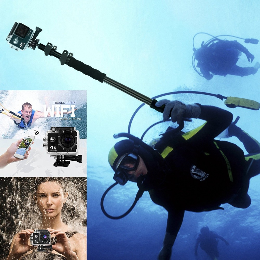 Trainshow 4K Action Camera Allwinner V3 Sony179 up to 64GB 30m Waterproof Video Camera Sport DV LCD Outdoor 12MP 60FPS Diving in DVR Dash Camera from Automobiles Motorcycles