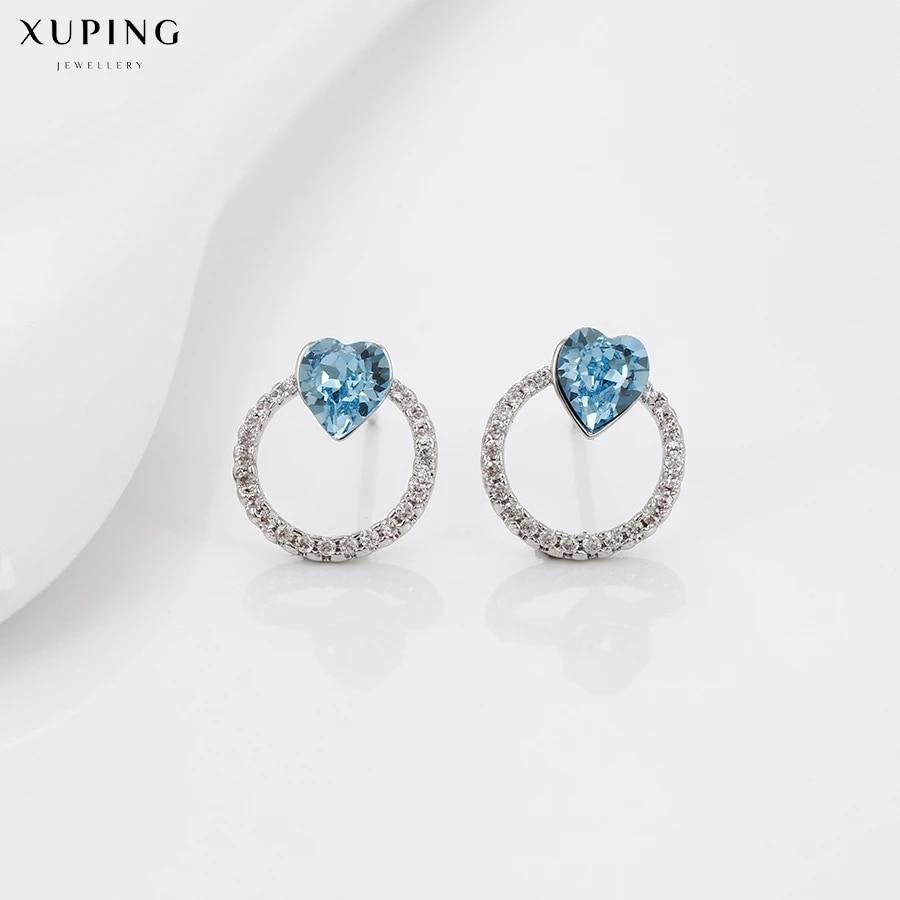 Vintage-Earrings-Stud-Blue-Hearts-Jewelry-Accessories