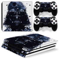 White for Sony Playstation 4 Pro Vinyl Skin Stickers for PS4 Pro Console Stars wars free shipping
