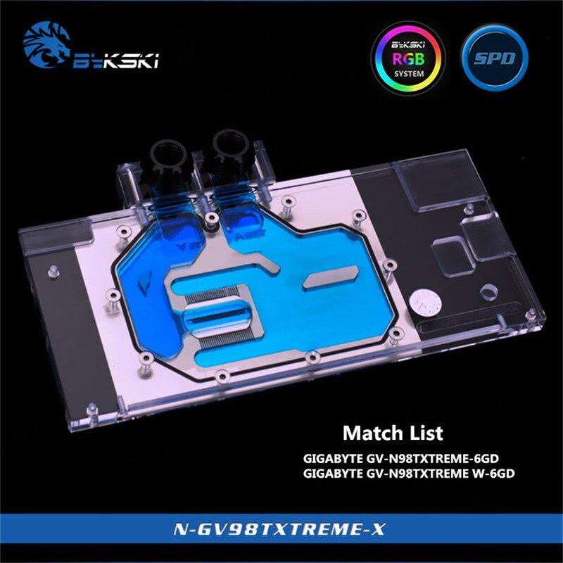 Bykski Full Coverage GPU Water Block For GIGABYTE GV N98TXTREME N98TXTREME W 6GD Graphics Card N