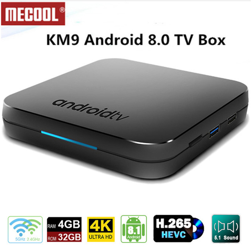 2019 Newest MECOOL KM9 4G 32G Android 8.1 Amlogic S905X2 box support Smart breathing light