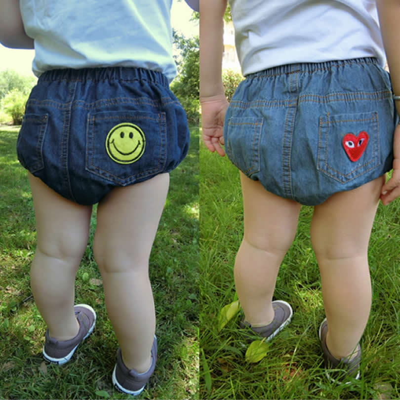 Bunny Kinder Denim Pants Baby Bloomers Jungen / Mädchen Shorts Baby Denim Shorts Baumwolljeans pp Pants Smile