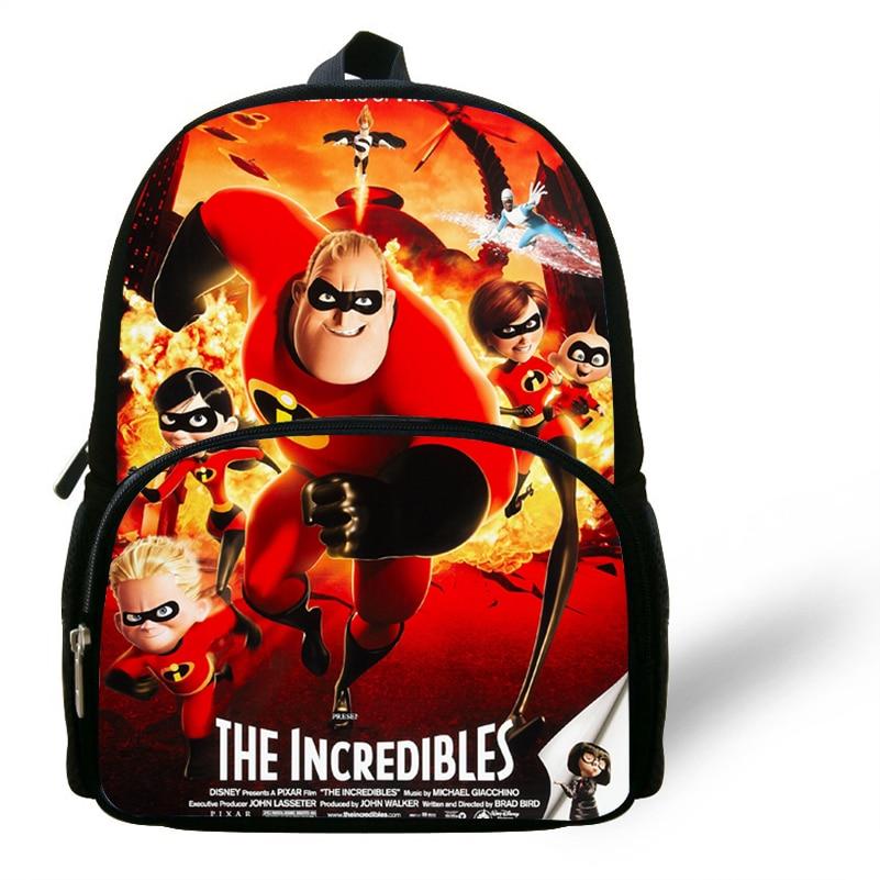 12-zoll Infantil Mochila Schule Kinder Tasche Die Incredibles Cartoon Rucksack Für Kinder Jungen Mädchen Vorschule Tasche Für Kindergarten